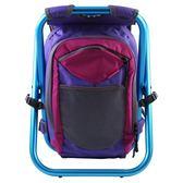 ispack繽紛流行背包椅 - 亮紫/ 海藍