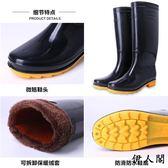 高幫雨鞋男黑色高筒防水男女膠鞋雨靴