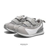 FILA 童鞋 灰色 魔鬼氈 復古 慢跑鞋 小童 中童 (布魯克林) 7J851V411