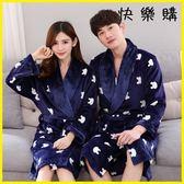 浴袍睡袍-法蘭絨浴袍女睡衣睡袍珊瑚絨長袖