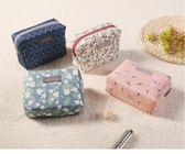 【樂邦】韓版 時尚 棉布 化妝包 可愛 化妝品 收納包 甜美可愛文青印花 化妝
