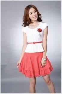 春夏裝新款女裝 時尚修身氣質短袖韓版連衣裙 女
