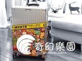 行李箱貼紙網紅旅行箱貼潮牌旅行箱貼紙惡搞涂鴉貼紙滑板貼-奇幻樂園