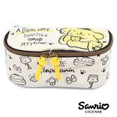 【日本進口】布丁狗 Pom Pom Purin 三麗鷗人物 可展開 化妝包 收納包 Sanrio - 857931