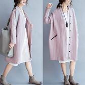 *原價990*韓系 開襟 保暖 舖棉 夾棉 長大衣 長袖 長版 外套  C1107