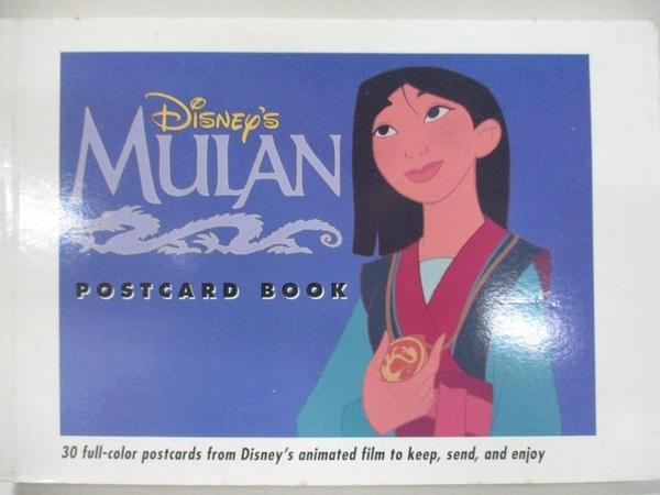 【書寶二手書T1/嗜好_H1G】Mulan Postcard Book_Disney Book Group