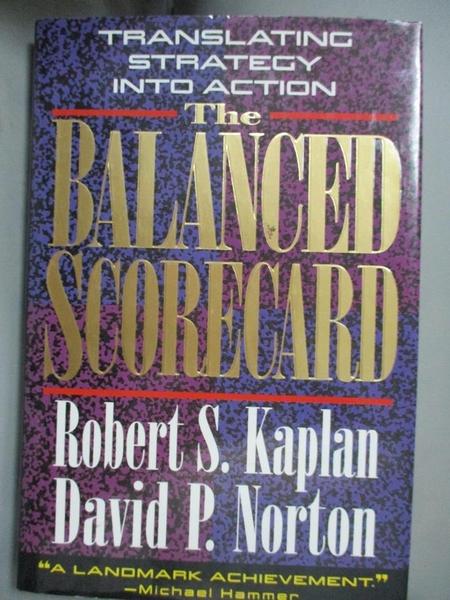 【書寶二手書T7/財經企管_YJM】The Balanced Scorecard: Translating Strate