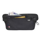 【LEWIS N CLARK美國人氣旅遊配件】RFID防盜錄貼身腰包-黑