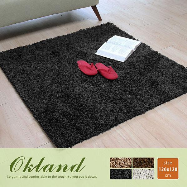 地毯 四色/120*120cm‧Okland 奧克蘭素色簡約長毛地毯【H&D DESIGN】