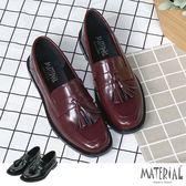 包鞋 方頭小流蘇亮皮包鞋 MA女鞋 T7198