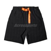 Nike 短褲 NSW Tech Pack Shorts 黑 橘 男款 格紋 【PUMP306】 BV4460-010