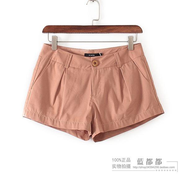 [超豐國際]10清倉ZQGB夏裝女裝裸色韓版修身棉質短褲 2(1入)