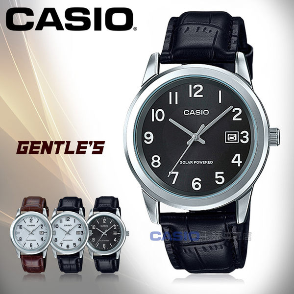 CASIO 卡西歐 手錶專賣店 MTP-VS01L-1B1 男錶 皮革錶帶  太陽能 防水 日期顯示