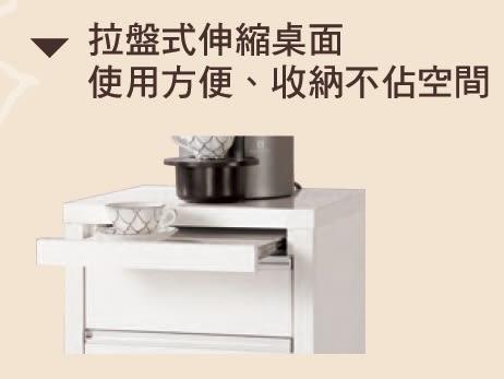 【森可家居】卡洛琳4尺餐櫃 7CM420-4 白色 收納廚房櫃 中島 碗盤碟櫃 北歐風