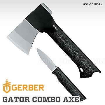 美國GERBER貝爾 GATOR COMBO AXE 鱷口式結合斧頭附刀組(公司貨)#31-001054