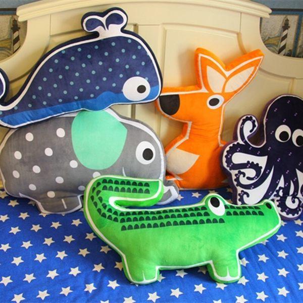 卡通造型森林動物抱枕靠墊辦公室午睡枕(現+預)