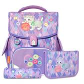 【磁扣設計】TigerFamily 小學者 超輕量護脊書包+文具袋+鉛筆盒 -- 毛球小貓 NO.H2517