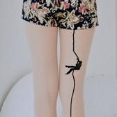 ★衣心衣足★美娜斯刺青時尚褲襪  不易勾紗 攀岩 台灣製 【00489】