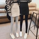 假兩件打底褲裙女秋冬2021新款加絨加厚高腰顯瘦九分灰色小腳褲子 源治良品