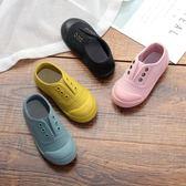 兒童帆布鞋男童女童休閒鞋軟底板鞋一腳蹬寶寶鞋子