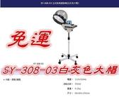 (免運特價)SY-308-03 典億立式蒸氣護髮機(白灰色大帽)銀色 白色大帽 護髮 燙髮*HAIR魔髮師*