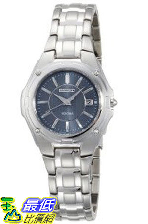 [美國直購 ShopUSA] Seiko Women's SXDB45 Silver-Tone Blue Dial Dress Watch $7625
