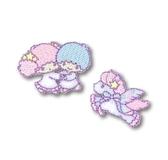 〔小禮堂〕雙子星日製迷你 燙布貼組《2 入粉藍獨角獸》刺繡燙貼布飾4972873 75628