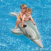水上充氣兒童游泳圈成人大鯊魚坐騎浮床浮排游泳裝備 中秋節下殺