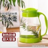 冷水壺涼水壺玻璃耐高溫大容量花茶壺套裝家用果汁壺涼白開水茶壺