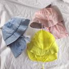 鯊魚純色防曬透氣棉麻漁夫帽 童帽 漁夫帽 沿邊帽 遮陽帽 防曬帽 陽盆帽