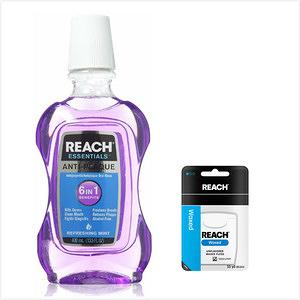 美國REACH麗奇漱口水(沁涼薄荷)*3+牙線(無味)50.2m*6