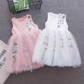 兒童禮服 夏裝2018新款軟紗蕾絲公主禮服裙韓版蓬蓬洋氣裙子