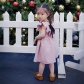 女童連衣裙夏季新款女寶寶無袖公主裙1-4歲韓版童裝百褶露背裙子『櫻花小屋』