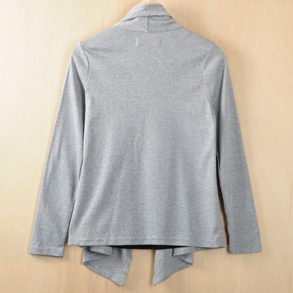 [cumar]假二件垂墜外套上衣  灰色(共三色)