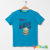 印花短袖T恤06藍-bossini男童