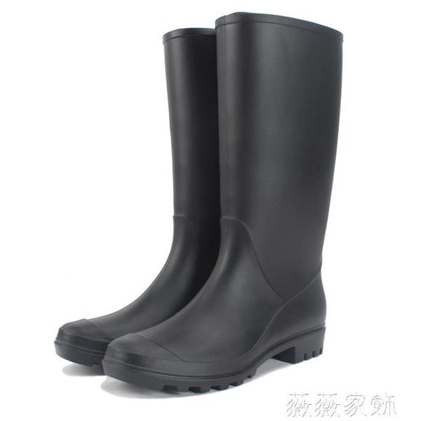 雨鞋 高筒雨鞋女時尚款成人外穿水靴長筒韓國可愛防水防滑雨靴大人水鞋 薇薇
