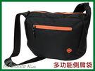 ╭OUTDOOR NICE╮山林MOUNTNEER 多功能實用側肩袋 黑/橘色 11EC05 側背包 肩背包 休閒背包 多功能背包
