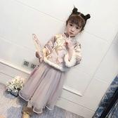 女童連身裙中國風旗袍裙兒童洋裝加厚【奇趣小屋】