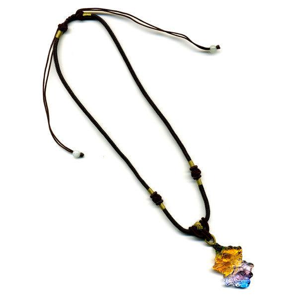 鹿港窯~居家開運水晶琉璃項鍊~你儂我儂 -牡丹 附精美包裝 ◆免運費送到家◆