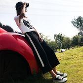 闊腿褲女夏季薄款九分褲2018高腰垂感寬鬆直筒褲顯瘦寬腳運動褲子 易貨居
