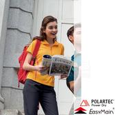 EasyMain 衣力美 SE17004-36橘黃 女排汗抗UV休閒衣 Polartec快乾機能衣/戶外中層衣/立領Polo衫