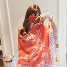 新款時尚棉質柔軟絲巾圍巾 文藝空調披肩 披肩圍巾103