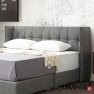 【采桔家居】吉布地 現代6尺棉麻布雙人加大床頭片(不含床底+不含床墊)