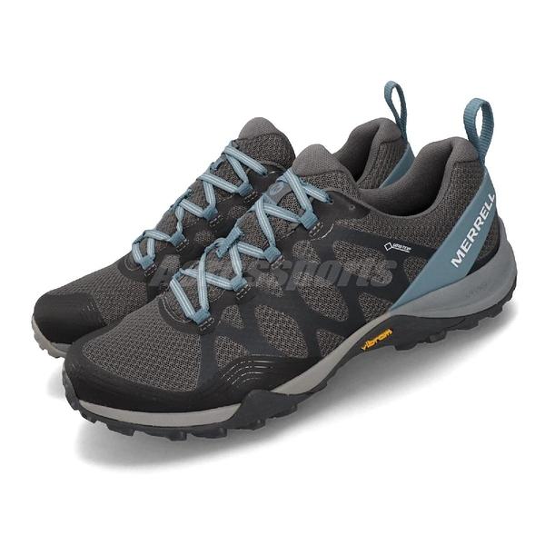 Merrell 戶外鞋 Siren 3 GTX 防水 Gore-Tex 灰 藍 女鞋 健行 運動鞋【ACS】 ML83146