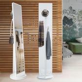 現代簡約全身鏡落地鏡臥室立體鏡子移動旋轉穿衣鏡客廳家用試衣鏡   麻吉鋪