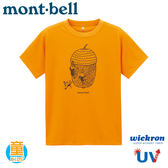 【Mont-Bell 日本 童 Wickron T恤 Donguri 爬橡果短袖排T《橘》】1114357t恤/抗UV
