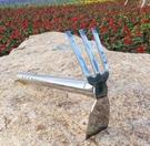 種菜工具 農用園林園藝工具不銹鋼兩用小鋤鎬頭 釘耙農具鋤頭種菜花鋤【快速出貨八折下殺】