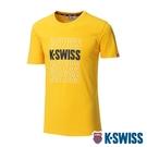 K-SWISS Modern Logo Tee棉質吸排T恤-男-黃
