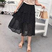 中大尺碼  波點蛋糕長裙~共兩色 - 適XL~4L《 68208 》CC-GIRL
