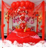 婚房布置用品婚慶浪漫創意新房拉花裝飾婚禮臥室結婚用品婚房裝飾    瑪奇哈朵